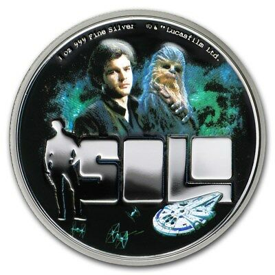 Niue- 2018 - Silver $2 Proof Coin  1 OZ Solo: A Star Wars Story