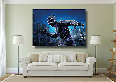 Black Panther Super Hero Large Poster Wall Art Print - A0 A1 A2 A3 Maxi