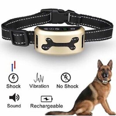 Anti Bark Electric Shock Dog Collar Stop Barking Pet Training Collar Control