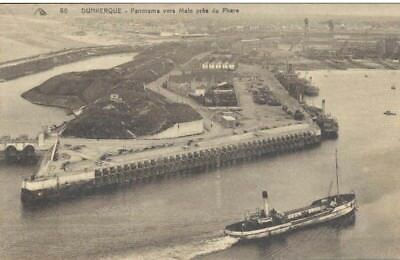 Dunkerque Panorama Vers Malo Pres Du Phare Carte Postale Ancienne 1934
