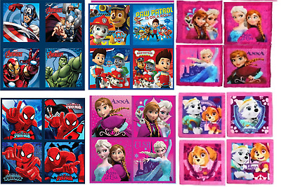 Boys & Girls Character Magic Face Towel Cloth Pack Of 4 Towels Gift Set Good Qua