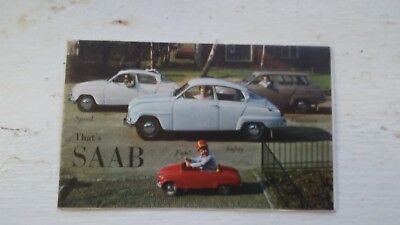 Saab sales brchure from 1960 full color