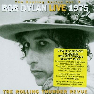 THE BOOTLEG SERIES 1975 VOL 5 LIVE ROLLING THUNDER REVUE BOB DYLAN Audio CD UK