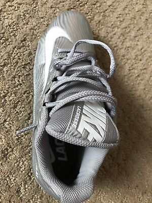 Nike Speedlax 5 Womens Lacrosse Cleats Size 7.0 Silver White Gray NEW 807158 -010