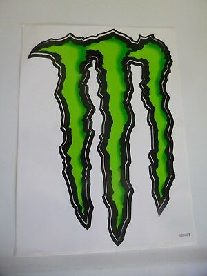 """Monster Energy Decal Authentic Sticker-approx.  5-3/4"""" wide x 8-1/2"""""""