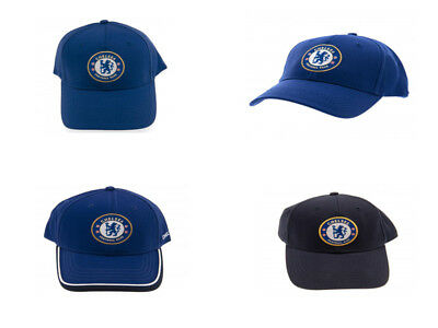 8dad5a6f2 CHELSEA FC FOOTBALL Club Soccer Team Navy Baseball Cap Official Core ...