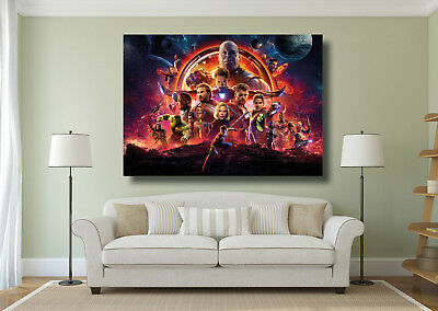 Avengers Hero Characters Large Poster Wall Art Print - A0 A1 A2 A3 Maxi