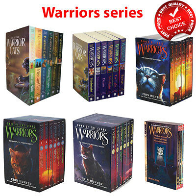 Erin Hunter Warrior series Books Collection Set Pack Manga Omen Dawn Prophecy
