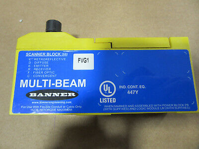 Banner FVG1 Multi-Beam Scanner Block VGC!!! with Free Shipping