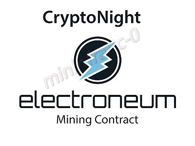ELECTRONEUM ETN CryptoNight Mining Contract - 24 Hours - 1900 H/s (1,9 KH/s)