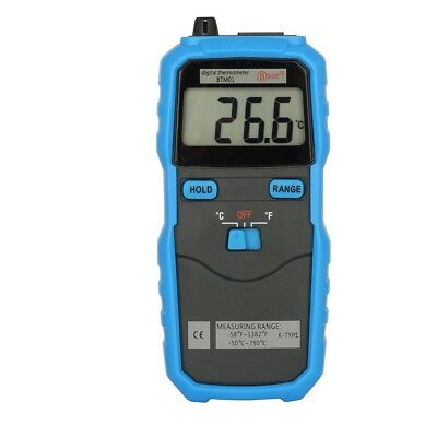 Handheld Digital Thermometer Temperature Meter Thermocouple Probe LCD Display