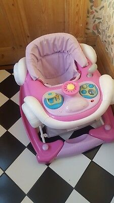 My Child Pink Candy Musical Coupe Car Baby Walker Rocker - Used