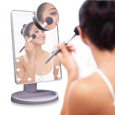 TOUCH LED Light Up Illuminated Make Up Bathroom Mirror With Magnifier #M2