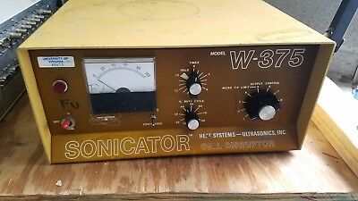 Sonicator Heat Systems - Ultrasonics Inc. W-375 W375 Cell Disruptor