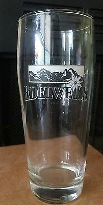 EDELWEISS LODGE RESORT Beer Drinking Glass .5L Brewery RARE HTF Very Good