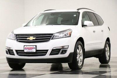 Chevrolet Traverse AWD Premier Leather GPS Summit White Used Like New Heated Cooled Seats Captains Bluetooth Camera Navigation 16 18 17