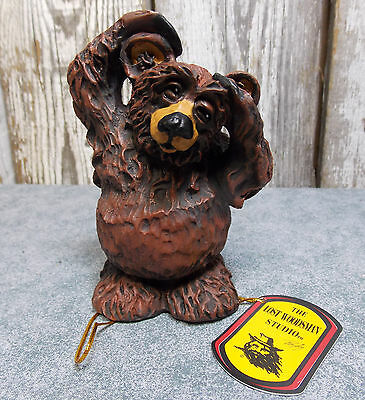 "Rick Rowley The Lost Woodsman Studio 4.5"" Resin Bear Figure ""whats Up"""
