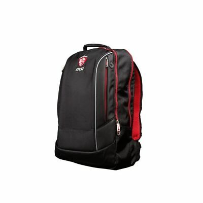 """GAMING LAPTOP BACKPACK MSI Hecate UP TO 17"""" BLACK/RED DURABLE POLYESTER SALE"""