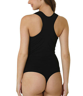 Kefali Damen Body Racerback Stretch-Body Damenbody Stringbody Unterhemd