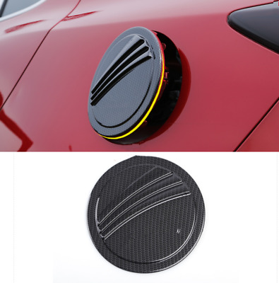 Carbon Fiber ABS Fuel Tank Cap Gas Oil Box Cover Trim For Mazda 3 Axela 2017