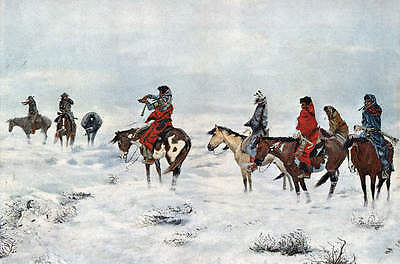 Lost in a Snow Storm by Charles M Russell