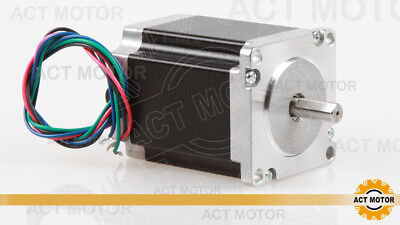 ACT MOTOR GmbH 1PC Nema23 Stepper Motor 23HS8430D8P1-5 3A 1.9Nm φ 8mm D-Shaft