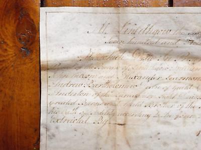 1797 Linlithgow West Lothian Vellum Burgess ticket Document with impressive seal
