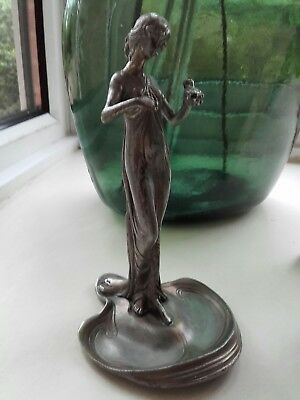 French Art Nouveau figure of girl