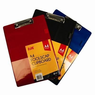 5 Star Standard Clipboard with PVC Cover FoolScap Assorted Colors