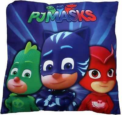 PJ Masks Panel Family In The Crew Square Premium Cushion Pillow