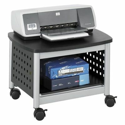 Safco 1855BL Scoot Underdesk Printer Stand, Black NEW