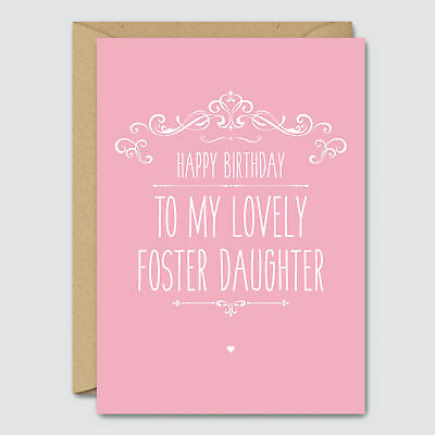 Happy Birthday To My Lovely Foster Daughter Funny Birthday Card Blue