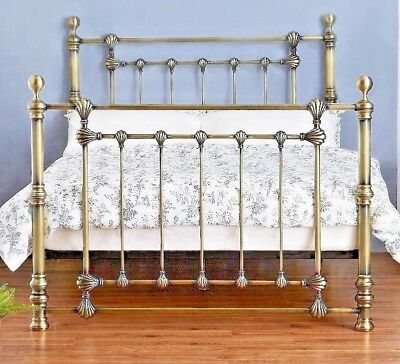 Lavish Victoria Solid Brass Finish Metal Bed Frame + Double 4Ft6 & King Size 5Ft