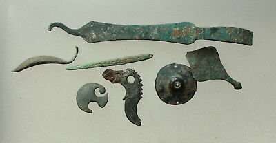 L6 Lot of Ancient Roman Bronze Artifacts L=5-135mmmm 50g