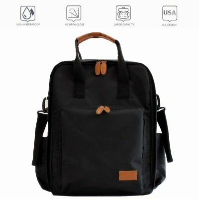 Diaper Bag Backpack W/ Waterproof Fabric And Multi Function For Boys & Girls