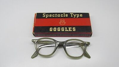 cesco vintage spectacle type goggles safety in box steampunk