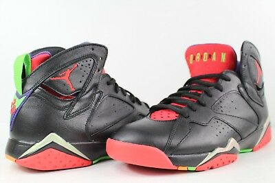 new product 99d65 4aa1a Nike Air Jordan Retro VII 7 Marvin The Martian Black University Red Size  8.5 Lot