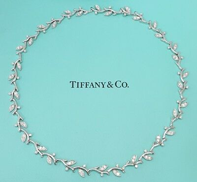 e6fec63eb Tiffany & Co Garland 2.25 ct Platinum Round Brilliant Cut Diamond Necklace  ...