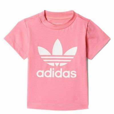 adidas girls pink infant / baby T shirt. Baby T shirt. Various sizes 1-6 years.