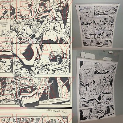 ORIGINAL 1997 2000 AD comic artwork JUDGE DREDD by LEE SULLIVAN  issue 1073 L@@K