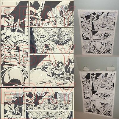 ORIGINAL 1997 2000 AD comic artwork JUDGE DREDD by LEE SULLIVAN stunning L@@K