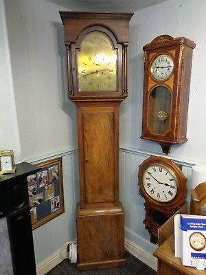 Longcase Clock Brass Dial, John Maurice Haverfordwest grandfather case movement