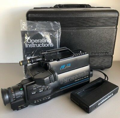 Vintage Panasonic Omnimovie Vhs Hq Camcorder Pv 400d With Charger And Case 41 15 Picclick