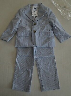 Jack & Janie Pinstripe Summer Suit - Us 18-24 Mo, 2T,3T Or 5 T