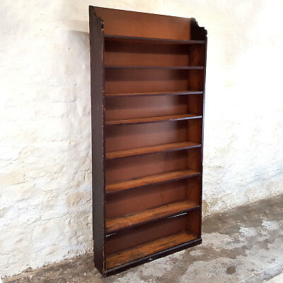 Victorian Pine 8 Height Shelving Rack / Bookcase - Late C19th (Antique Shelf)