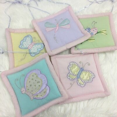 Nursery Baby Girls Wall Art Hanging Pink Panels 5 Piece