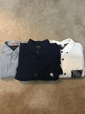 Wholesale Lot Of Three Men Long Sleeve Shirt Sz Large and X-Large