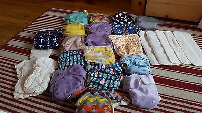 Lil Helper/KAWAII BABY large lot of cloth diapers 17 in good condition