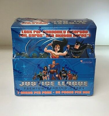 Justice League Premium - Sealed Trading Card Hobby Box - Inkworks 2003