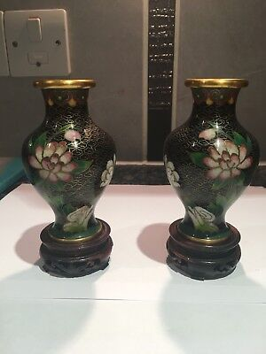 Late 19th early 20thcentury Japanese cloisonne vases.